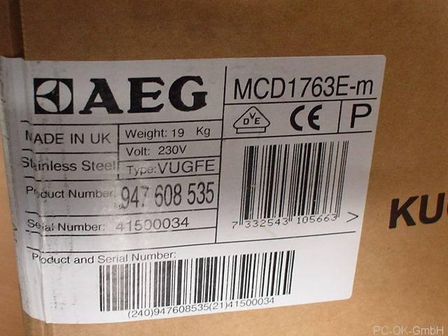 aeg micromat duo 1763e m 17 liter einbau mikrowelle mit grill 800 1000 watt ebay. Black Bedroom Furniture Sets. Home Design Ideas